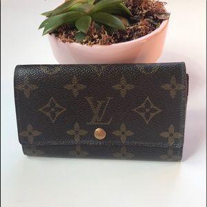 Louis Vuitton vintage monogram snap wallet